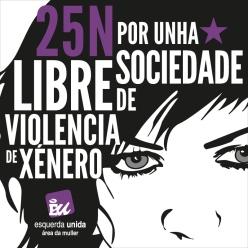 Por unha sociedade libre de violencia de xénero.